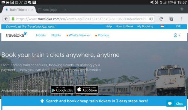 aplikasi tiket online traveloka