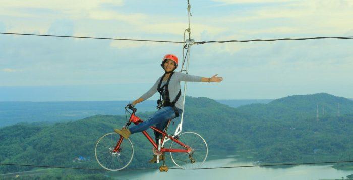 sepeda langit pule payung