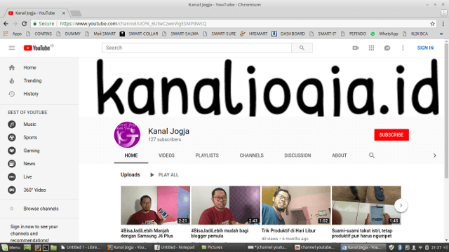 channel youtube kanal jogja